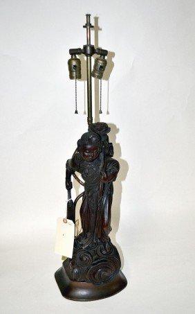 Asian Wood Lamp