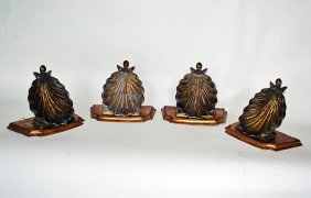 Set Of Four Shell Brackets