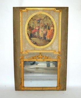 Antique Trumeau Mirror