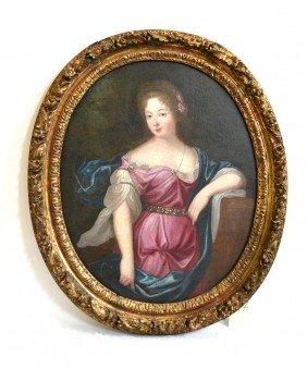 Antique Oil On Canvas, Woman