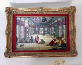 Framed Interior, Figures In A Hall