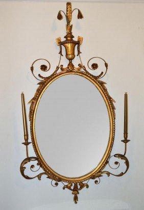 Adams Style Gilt Mirror