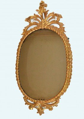 Gilt Rope Form Mirror