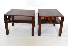 Pair Of Mahogany End Tables