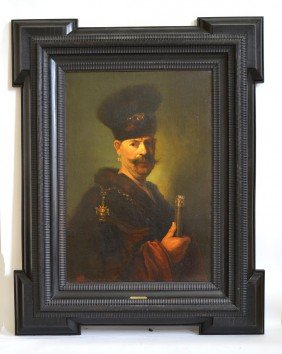 After Rembrandt - Portrait Of A Polish Gentleman.
