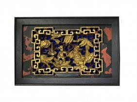 Parcel Gilt Reticulated Panel