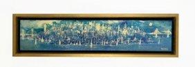 Viking Oil On Canvas - NYC Skyline