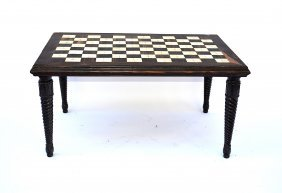 Anglo-Indian Inlay Low Table