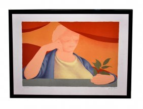 George Tooker Lithograph, Portrait