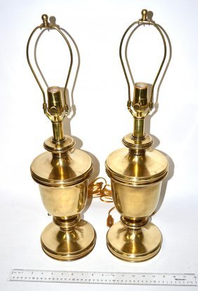 Pair Of Modern Brass Lamps