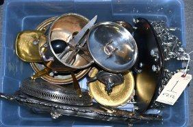 Assorted Brass And Silverplate Articles