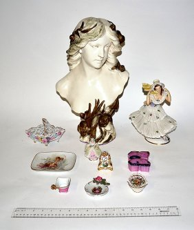 Assorted Ceramic Figural Group [10 Items]