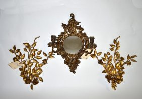 Sconce & Two Appliques