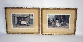 Pair Of C. Klackner Engravings, 18th C. Scenes