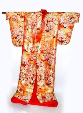 Embroidered Silk Kimono