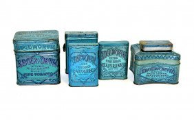 Seven Edgeworth Tobacco Tins - Assorted Sizes