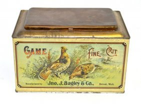Game Fine Cut Tobacco Tin Store Bin