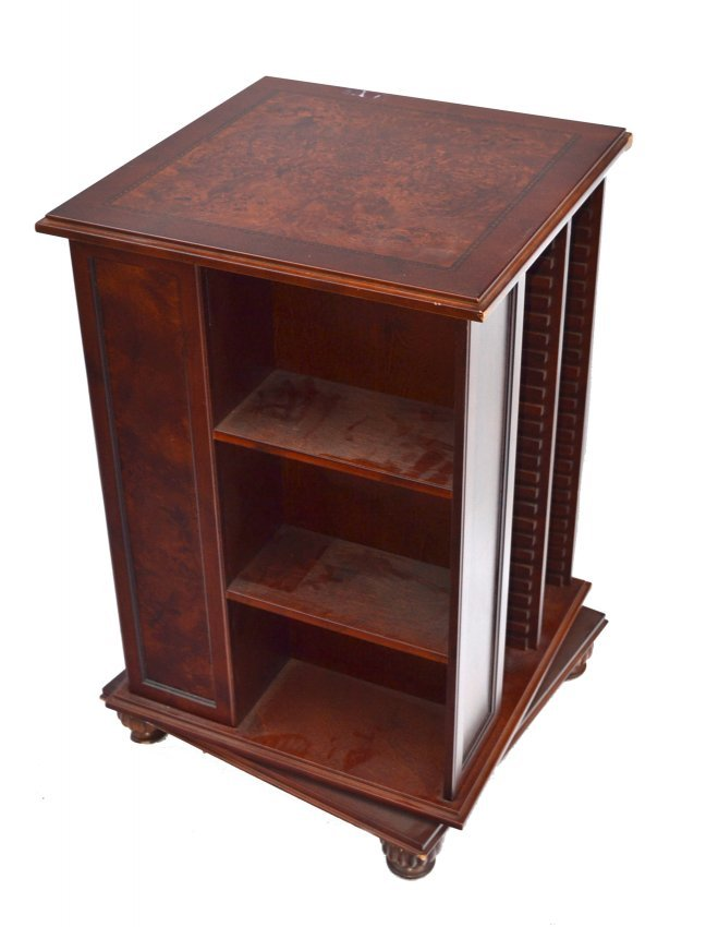 revolving library end table lot 92