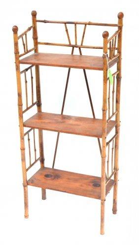 antique bamboo etagere lot 1064. Black Bedroom Furniture Sets. Home Design Ideas