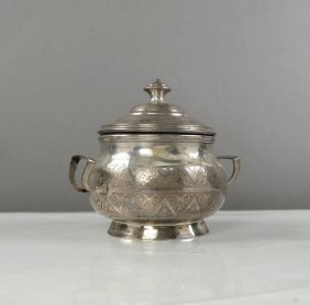 Russian Silver Covered Sugar Bowl