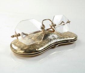 14k Gold Child's Eyeglass & 14k Case
