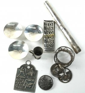 Group Of Assorted Silver Judaica