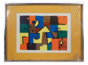 After Paul Klee, Abstract Landscape