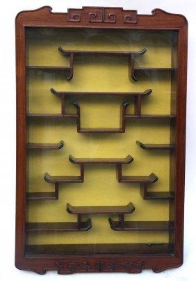 Mahogany Hanging Curio Cabinet