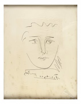 "Pablo Picasso, Etching - ""pour Roby"""