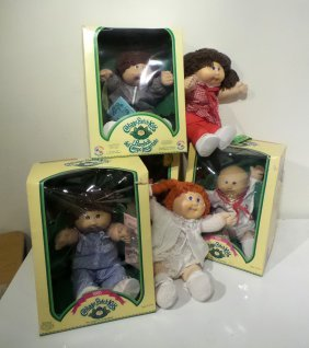 4 Cabbage Patch Kids In Boxes