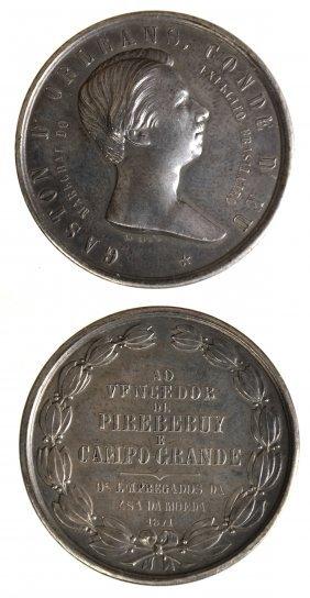 Brazil 1871 Gaston D'orleans Medal