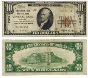 U.s. 1929 $10 National Bank Note