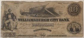 Williamsburgh City Bank$10 Obsolete Note
