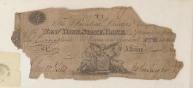 N,y. State Bank 1812 $5 Obsolete Note