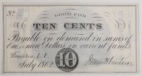 James A. Prentice Hat Mfg10¢ Adv Note