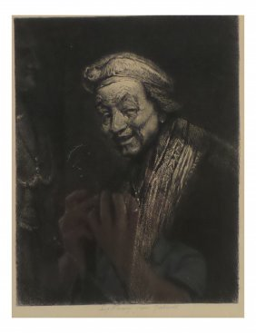 After Rembrandt, Antique Etching