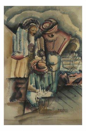 N. Lewis, Watercolor - Mariachi Band