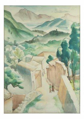 N. Klein, Watercolor - Town