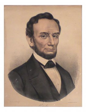 Lincoln - Circa 1861 Currier & Ives Portrait