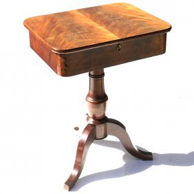 19th C. Empire Sewing Table