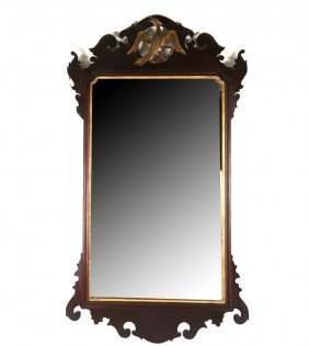 Chippendale Style Mirror With Phoenix