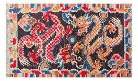Tibetan Double Dragon Rug