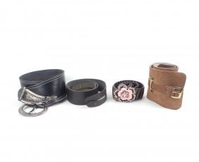 Four Ladies' Designer Belts