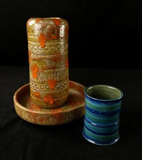 3 Mid-century Italian Ceramic Articles