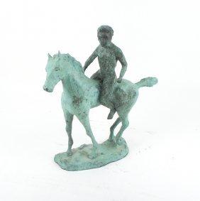Bronze Horse & Figure