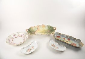 5 Assorted Porcelain Dishes
