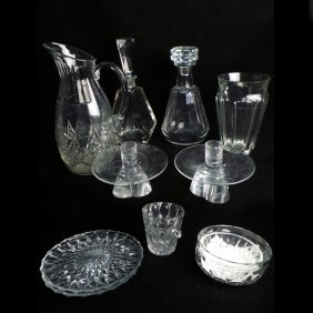 11 Assorted Glass Table Articles