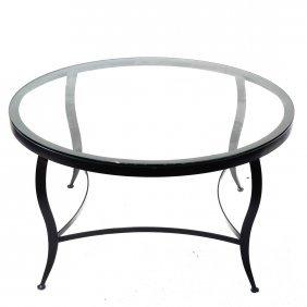 Round Black Coffee Table