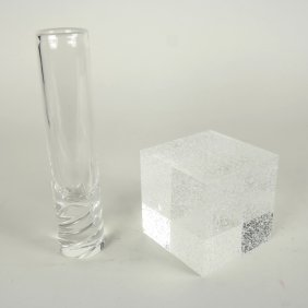 Steuben Paperweight And Vase