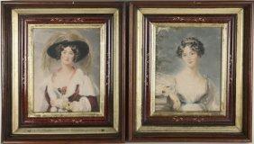 Pair Of Prints, Portraits Of Women